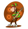 Reggae dread lock bass player vector image