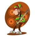 Reggae dread lock bass player vector image vector image