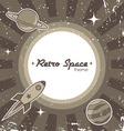 retro space theme vector image