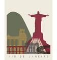 Rio de Janeiro skyline poster vector image vector image