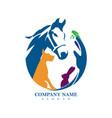 safe animals logo design vector image vector image