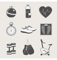 set of sport and fitness vector image