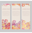 Set of three abstract colorful banners vector image vector image