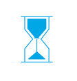 silhouette hourglass object design to know the vector image vector image