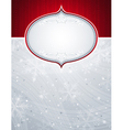 silver christmas background with snowflakes vector image vector image