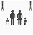 Simple family icon vector image vector image