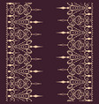sketch of endless stripes in henna tattoo style vector image vector image