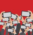 Smartphones In Hands Social Network Concept vector image vector image