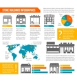 Store building infographic vector image