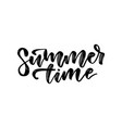 summer time - hand drawn lettering card vector image