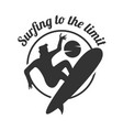 surfing to the limit summer surfing sports vector image vector image