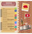Switzerland infographics statistical data sights vector image vector image