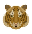tiger icon in cartoon style isolated on white vector image