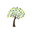 tree icon logo template vector image vector image