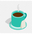 turquoise cup of tea isometric icon vector image vector image