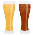 Two beer glasses vector image vector image