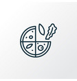 vegetarian pizza icon line symbol premium quality vector image