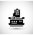 Vertical milling machine icon vector image vector image