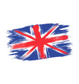 vintage british flag drawing flag uk in grunge vector image