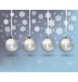 xmas background with balls vector image vector image