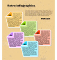 yellow infographics vector image vector image
