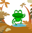 frog in forest vector image