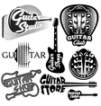 set of monochrome templates for logo on the vector image