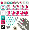 Time - Clock Symbols Set vector image