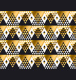 triangle shape geometric african tribal seamless vector image