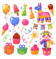 birthday party celebration set vector image