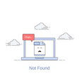 404 error page or file not found icon vector image vector image