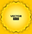 Abstract frame with yellow leaves vector image vector image