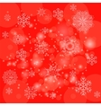 Abstract Winter Pattern Snowflakes Background vector image vector image
