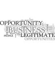 are those biz opportunities legit text word cloud vector image