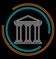 bank building icon - government vector image