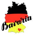 bavaria hand drawn lettering lettering vector image