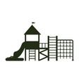 big playground for kids with ladders and balcony vector image