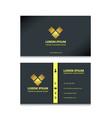 black elegant business card vector image vector image