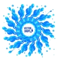 Blue paint splash circle on white background vector image