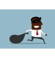 Businessman flees with stolen bag vector image