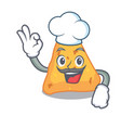 chef nachos character cartoon style vector image vector image