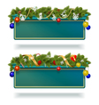 christmas billboard vector image vector image