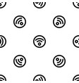 circle wifi pattern seamless vector image vector image