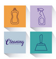 cleaning supplies design vector image vector image