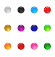 Collection Of Colorful Glossy Spheres Set 1 vector image vector image