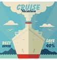 Cruise vacation and travel vector image vector image