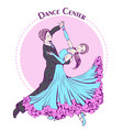 dance line color ballroom dancing classic vector image vector image