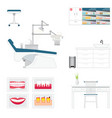 dental care supply with medical dental and vector image vector image