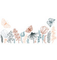 drawing spring template with flowers vector image
