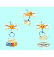 Drone delivery vector image vector image